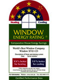 WERS Windows Energy Rating Label
